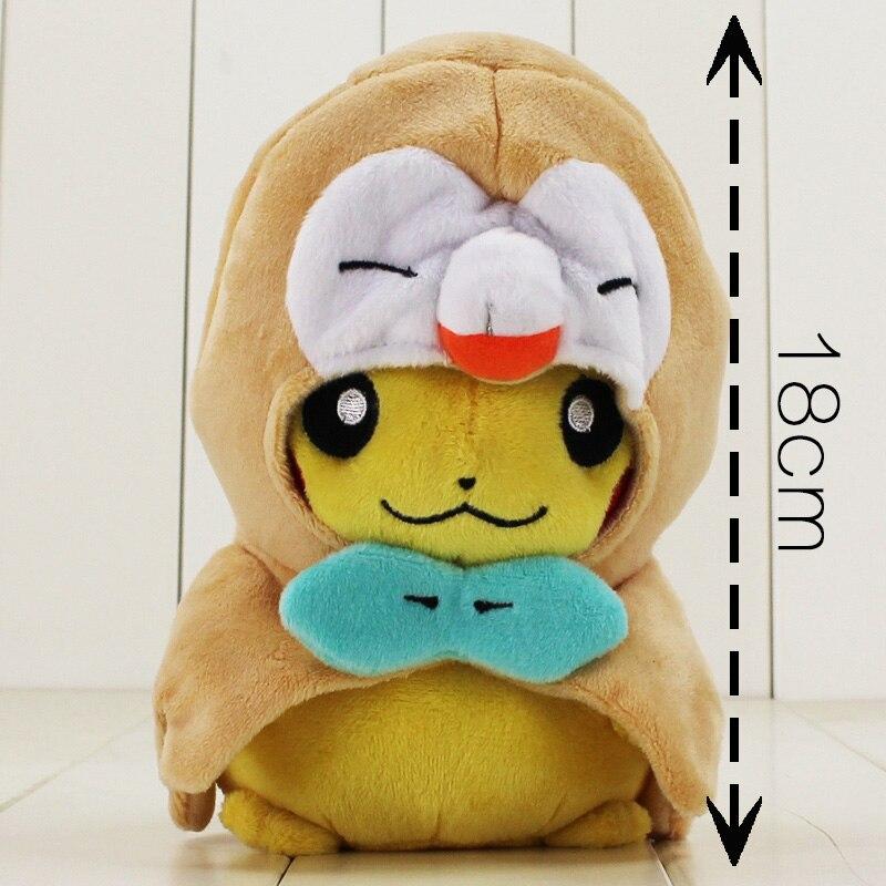 18cm Rowlet muñeco de dibujos de peluche de kawaii anime animal de juguete de felpa suave Peluche de regalo para niños