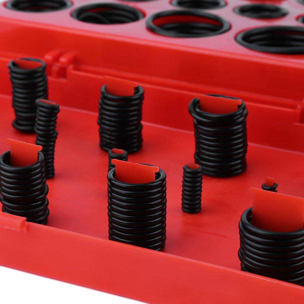 Heißer Verkauf 419 stücke Gummi Serie O Ring Sortiment Dichtung Sanitär Garage Kit Mit Rot Fall Auto Auto Styling Auto zubehör Werkzeug