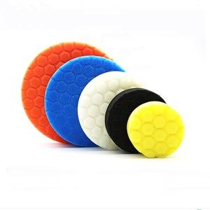 Image 2 - 5 x губки для полировки, автомобильные краски, шлифовальные колодки, инструменты для очистки щеток, Для Полировки Автомобиля 75 100 125 150 180 мм с клейкой прокладкой