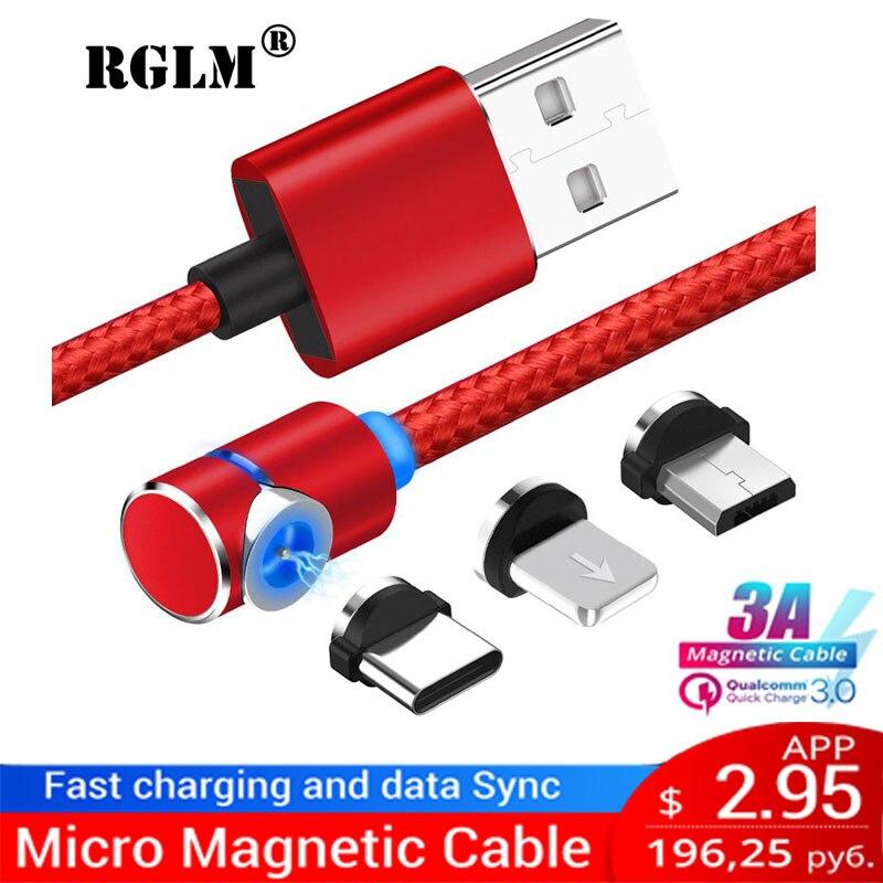 Cabo magnético do carregador de usb do ímã da forma de 90 graus l para o micro cambiador do usb do porto e do conector de usb