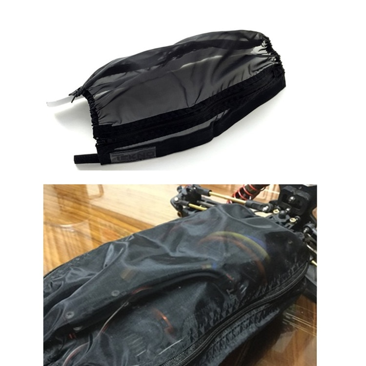 Piezas de coche RC chasis protector impermeable Nylon cubierta de polvo para 1/10 Tekno MT410 ET48.3 EB410.3