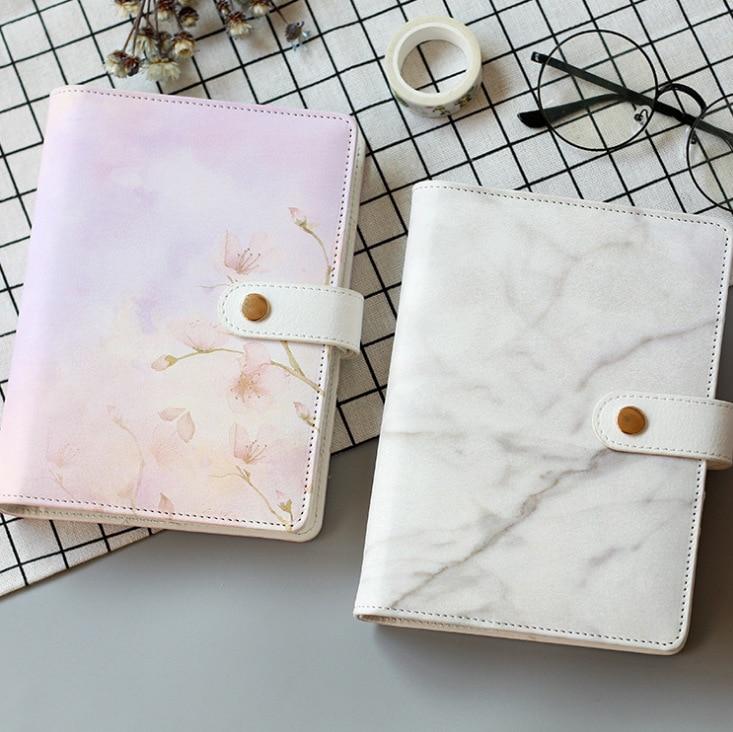 Coloffice Original stationery simple flamingo fresh six-hole loose-leaf notebook A6 notepad pu leather hand books school prizes