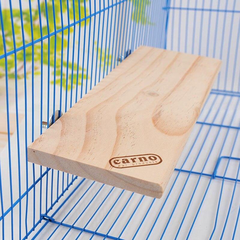 Retângulo de Madeira Placa de Madeira Pequeno Animal Totoro Hamster Squirral Plataforma Natural Gaiola Fixa Ninho Salto Escalada Brinquedo 32*14cm