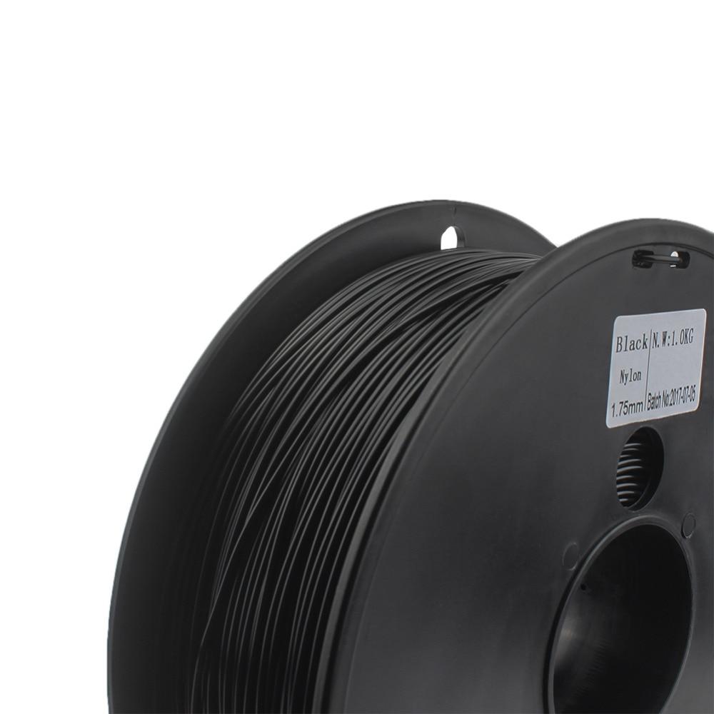 NYLON filament 1.75mm wimpel c 0.03 mm choice 3d nylon black white color 3d filament nylon PA 1 kg filo stampante 3d filamento