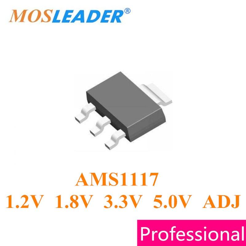 Mosleader SOT223 1000 шт AMS1117-1.2V AMS1117-1.8V AMS1117-3.3V AMS1117-3V3 AMS1117-5.0V AMS1117 1,2 V 1,8 V 3,3 V 5V