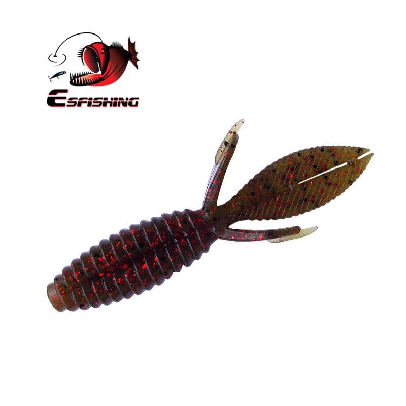 KESFISHING cebo Artificial Iscas suave señuelos para pesca de carpas aborda ornitorrinco 10cm 9g 6 uds señuelo de pesca Spinner