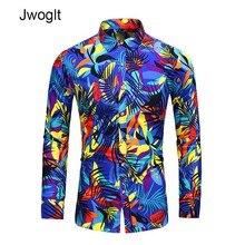 45KG-120KG hommes Blouse Design de mode coloré imprimé chemise hommes Hawaii à manches longues plage chemises florales 5XL 6XL 7XL