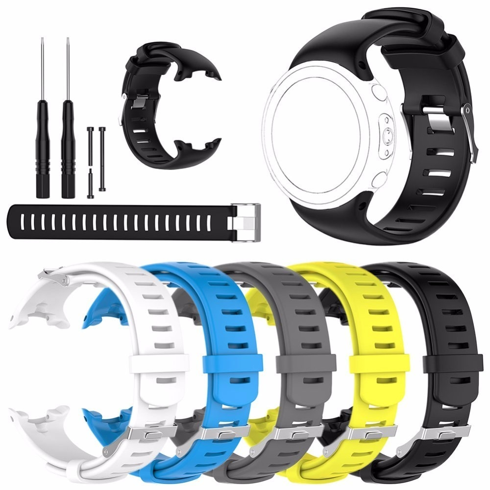 NEW Soft Silicone Replacement Smart Watch Band for Suunto D4I Watch Strap Wristband for SUUNTO D4 D4i Novo Dive Watch W/Tools sport silicone watch band for suunto core smart watch replacement brand new high quality wristband watch belt smart accessories