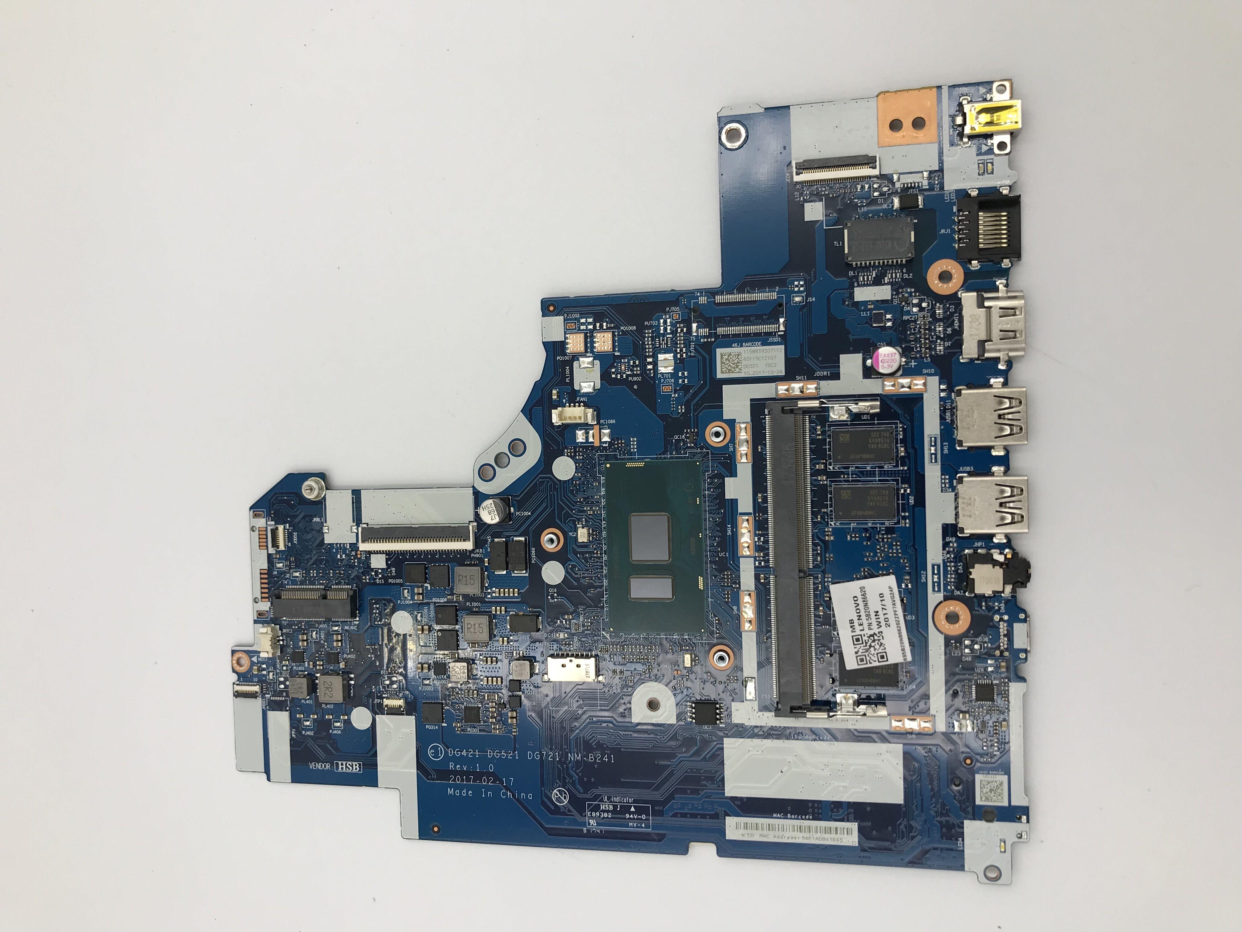 for lenovo 320-15IKB 320-17IKB V320-17IKB NM-B241 5B20N86620 Laptop Motherboard with I5-7200U UMA 4G RAM 100% Tested work