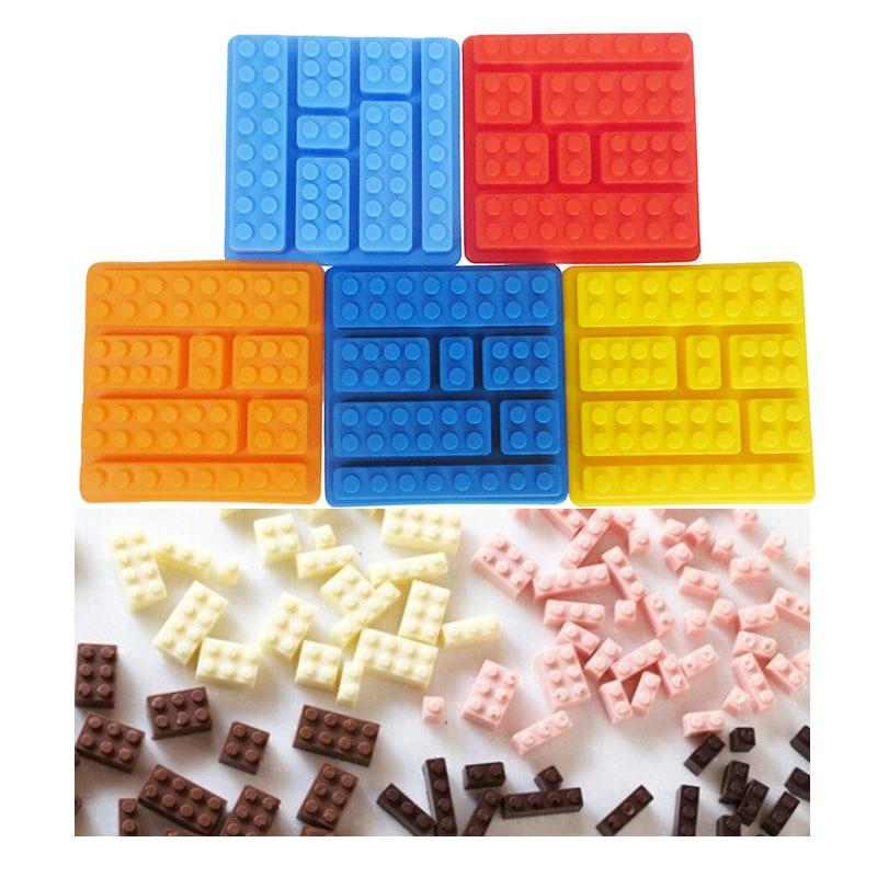 Силиконовые кубические кубики лего в стиле квадратной формы для льда, шоколада, форма для торта Jello, строительные блоки, поддон для льда, подарок своими руками