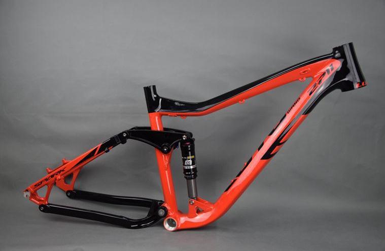Kalosse, cuadro de bicicleta DH de 27,5x16, 27,5 ER, Cuadro de bicicleta de montaña de descenso, marco de aleación de aluminio para bicicleta