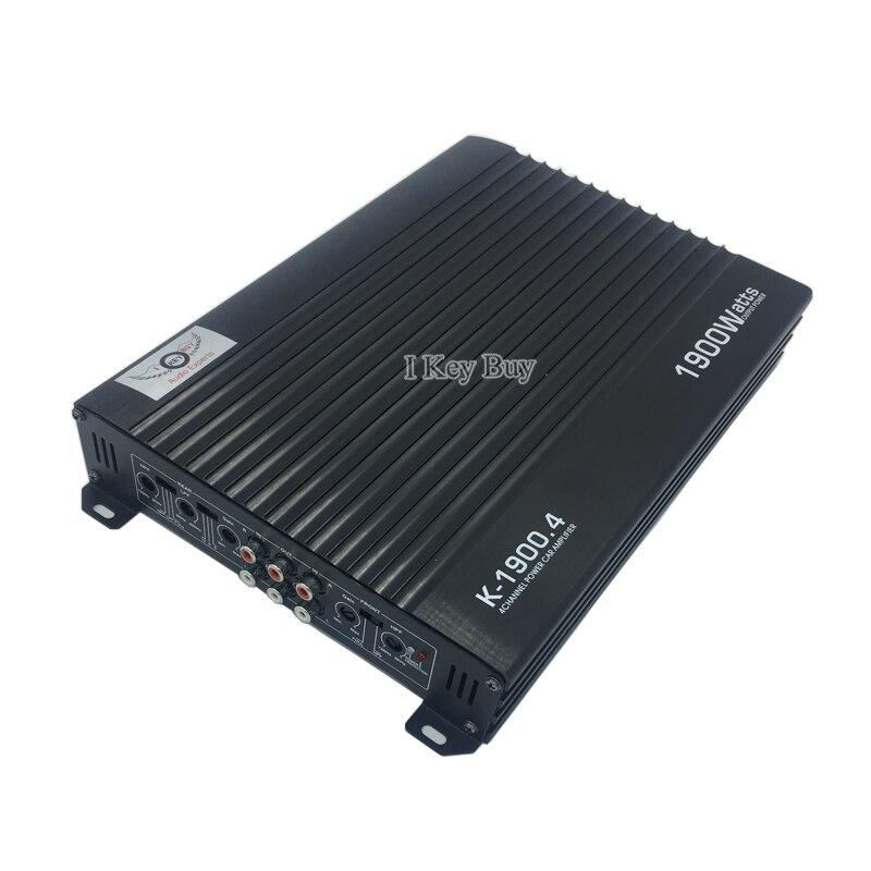 Amplificador de Audio para coche de 12V, Clase AB, Subwoofer de alta potencia de 1900W, 4 canales, 4 vías, alta calidad, modificación de coches, aleación de aluminio