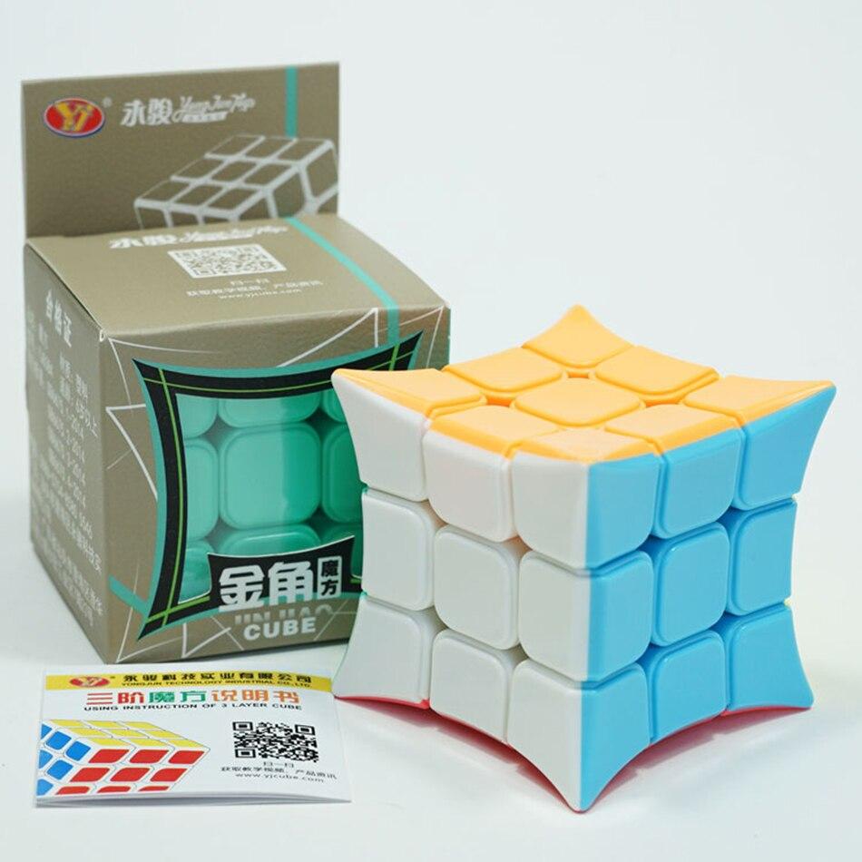 YJ Jinjiao 3x3 Cubo de esquina sin pegatinas Yongjun 3*3*3 cubo rompecabezas para principiantes juguetes de cubo mágico profesional para niños