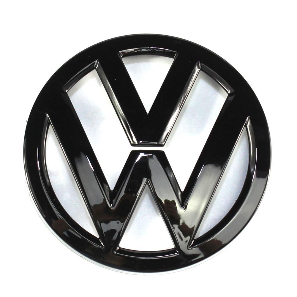 110mm Gloss Black Rear Trunk Lid Badge Logo Emblem Replacement for Volkswagen Golf MK7