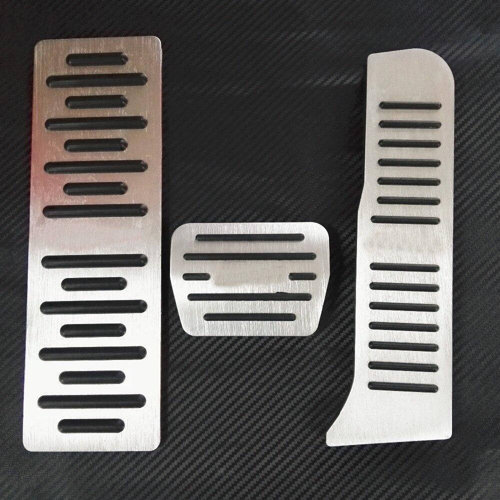 Accesorios de TTCR-II para Audi A3 2004-2012 Q3 TT en Auto acelerador automático freno reposapiés Pedales pegatinas cubierta