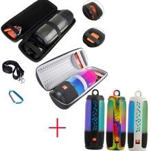 2 in 1 Hard EVA Tragen Zipper Lagerung Box Tasche + Weiche Silikon Fall Für JBL Pulse 3 Bluetooth Lautsprecher für JBL Pulse 3 Pulse3 Fall