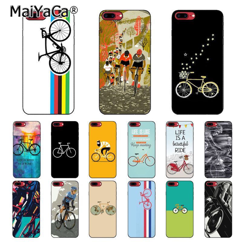 MaiYaCa bicicleta ciclismo arte teléfono caso para iphone 11 Pro 11Pro MAX 8 7 6 6S Plus 5 5S SE XR X XS X MAX 10 Coque Shell