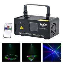Mini effet 3D 400mW rvb Scanner Laser couleur lumières DJ fête maison mariage projecteur éclairage de scène PRO télécommande 8 CH DMX lampe