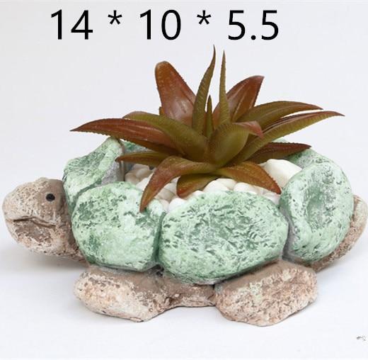 Casa jardim decoração de mesa cimento flowerpot molde silicone 3d tartaruga pote molde concreto plantador pedra moldes