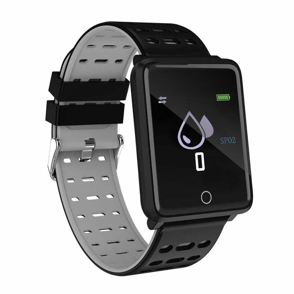 Pulsera inteligente Powstro F3 1,44 monitor de Color Monitor de ritmo cardíaco presión arterial seguimiento GPS movimiento IP68 impermeable reloj de salud