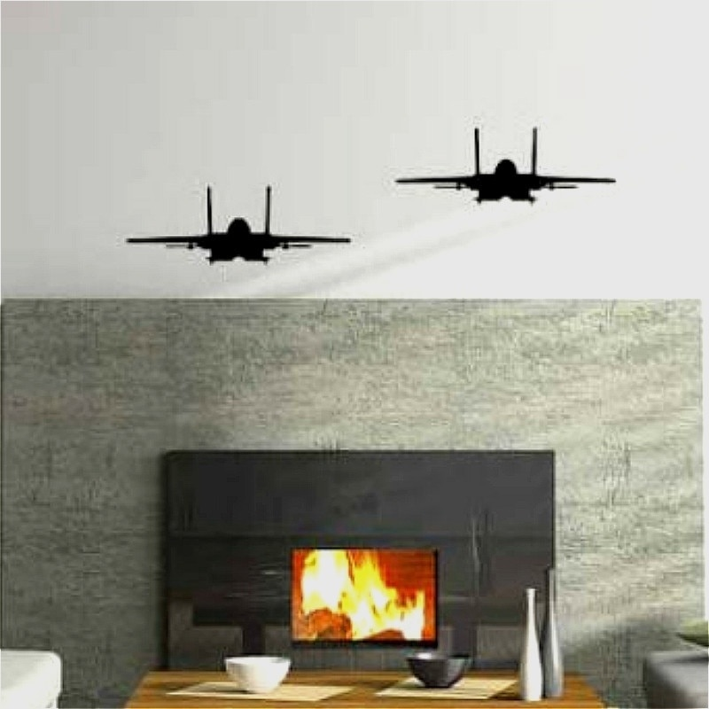 "Виниловая наклейка на стену, 1 шт., 8 ""H x 22"" W/20x55 см, amazing, F-15, EAGLE, Military FIGHTER, JET, Airplane, Air Force"