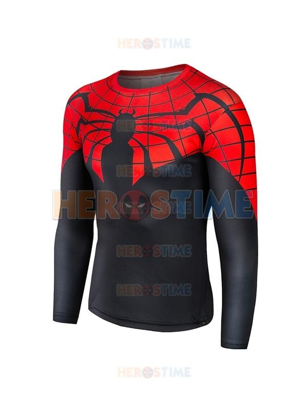 Camiseta teste padrão 3d do super-herói do homem-aranha superior