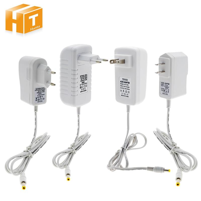 Adaptador de fuente de alimentación de 12V carcasa blanca AC100-240V transformadores de iluminación salida DC12V 1A / 3A convertidor de potencia para tira de LED.