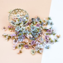 50 шт., 2 см, многоцветная ромашка, Цветочная голова, мини шелк, искусственный цветок, стена для короны, лом, Свадебный домашний декор, сделай сам, гирлянда, головной убор