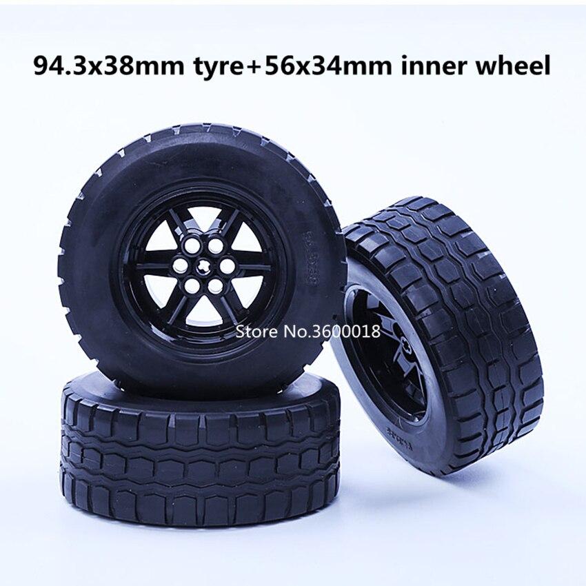 2 set/lote decool 7111 roda técnica 94.3x38mmzr mecânica compatível com 15038 44772 moc diy blocos tijolos peças conjunto