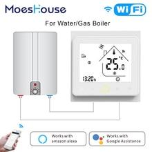 Thermostat intelligent chaudière à gaz   Thermostat intelligent, contrôleur de température Tuya APP, télécommande chaleur de leau, fonctionne avec Amazon Alexa Echo Google Home