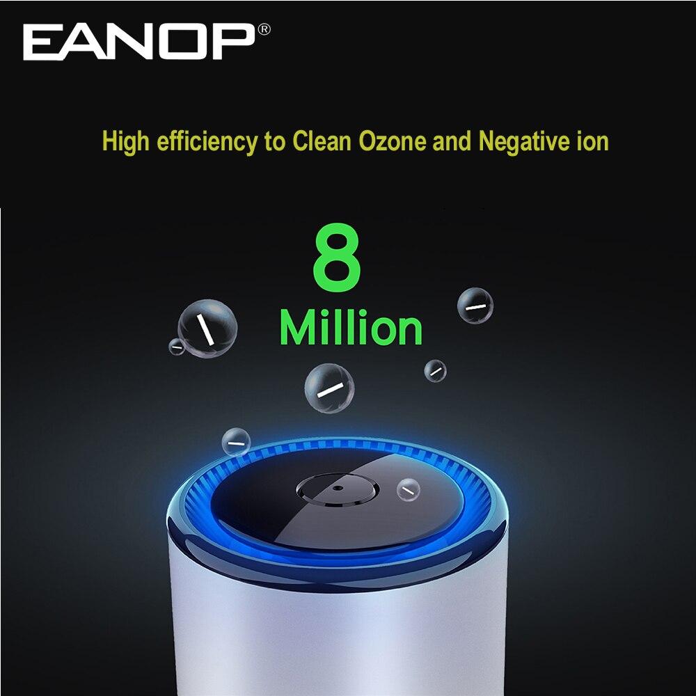 Purificador de aire EANOP P600 para coche, purificador de aire para vehículo, ambientador, limpio de formaldehído en habitación, oficina, coche