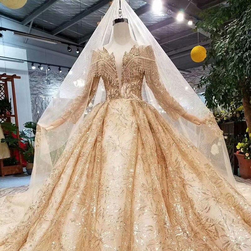 AIJINGYU-فساتين زفاف إسلامية بأكمام ، ملابس إسلامية ، مقاس كبير ، عينة حقيقية ، رمادي