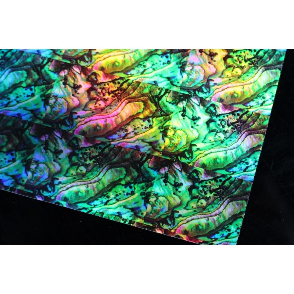 Tigofly 4 unids/lote 10X22cm pegatina de concha holográfica película adhesiva Flash peces artificiales piel Jig cebos duros señuelos pegatina