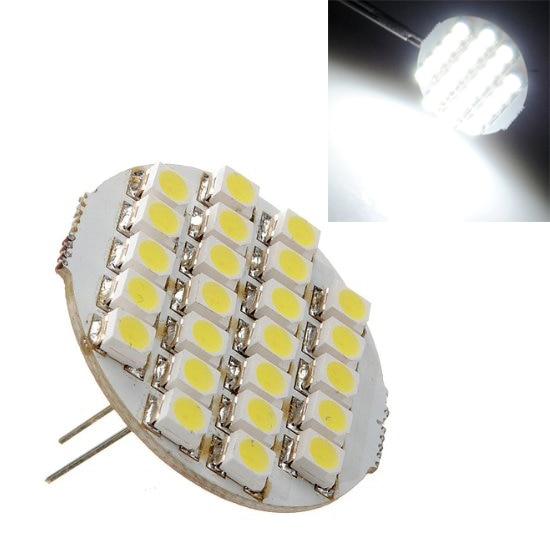 TOYL G4 24 SMD Светодиодный прожектор лампа 1,5 W 90lm DC 12V 6500-7500k белый фороид