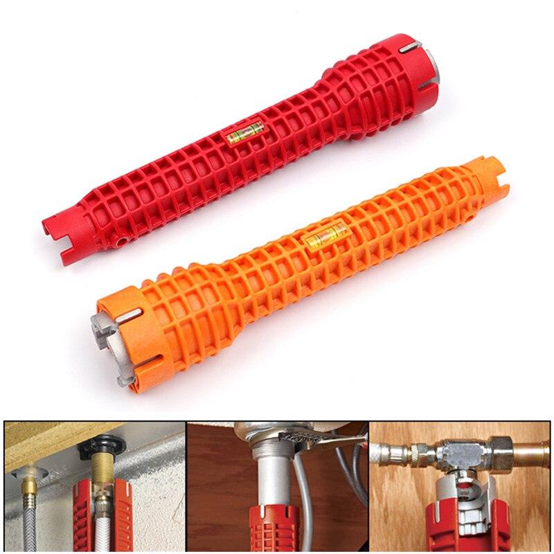 1 piezas llave de tubo Anti-slip fregadero de la cocina de reparación llave de grifo de baño Asamblea fontanería llave