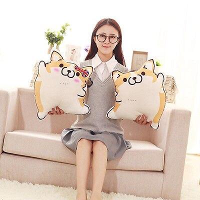 Corgi Almofadas De Pelúcia Exclusivo Macio Animal Bonito Cão Dos Desenhos Animados Travesseiro Pelúcia Sofá Casa Almofada Recheadas Brinquedo Do Miúdo da Criança 45 cm
