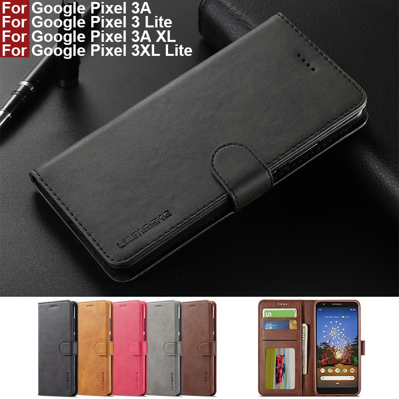 For Google Pixel 3A Case Leather Vintage Phone Case On Google Pixel 3A XL Case Flip Stand Wallet Case For Pixel 3 3XL Lite Cover