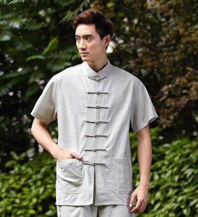 Shanghai Stor artes marciais camisa de hombre chino tradicional hombres ropa kungfu camisa wing chun Top camisa China 4 colores