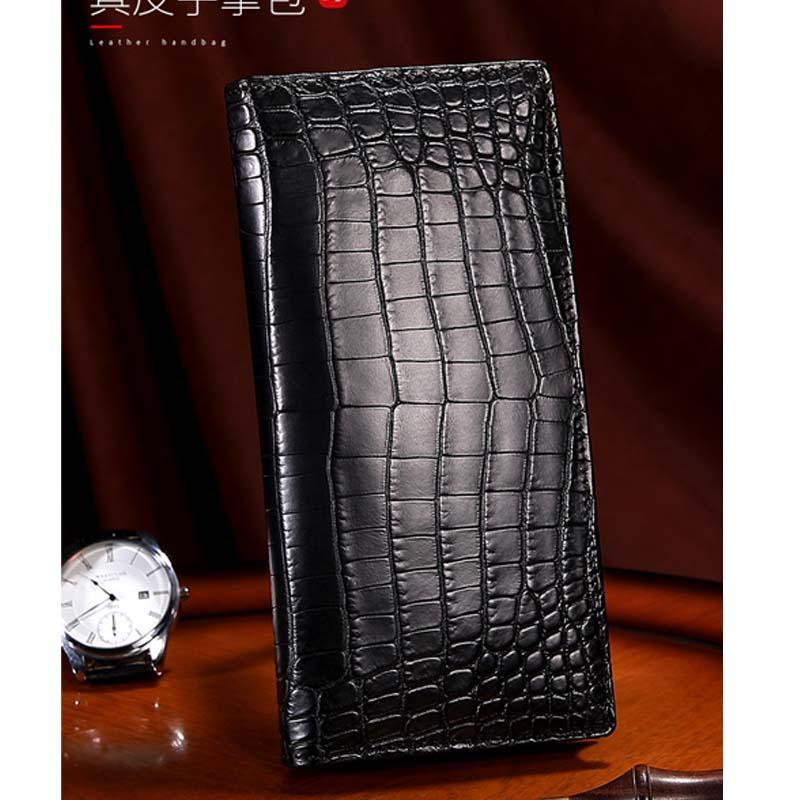 Cestbeau Nile crocodile African crocodile leather wallet long hand bag genuine leather genuine men's bag side crocodile belly