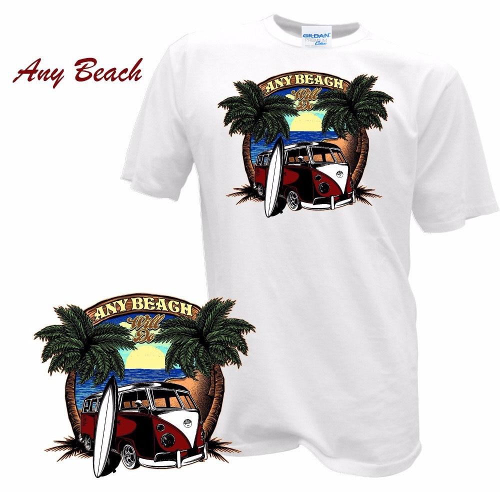 La mejor camiseta masculina de verano de 2019 para hombres bullsurffer Bus Surfings Pin Up Retro Samba T1 T2 Auto camisetas personalizadas sudaderas con capucha