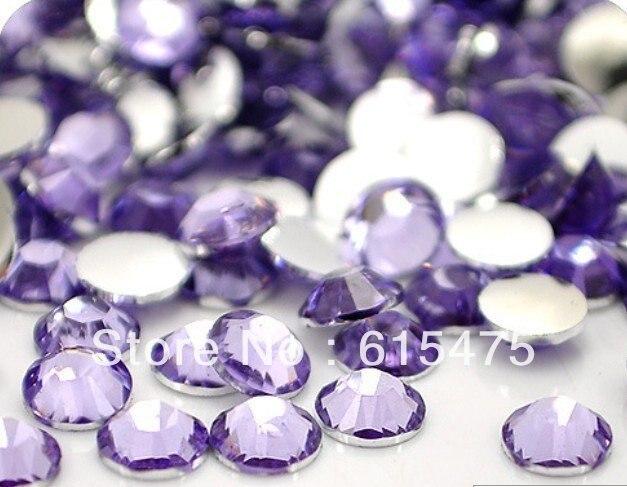 6mm lt. ametista cor ss30 cristal strass resina flatback, frete grátis 10,000 pçs/saco