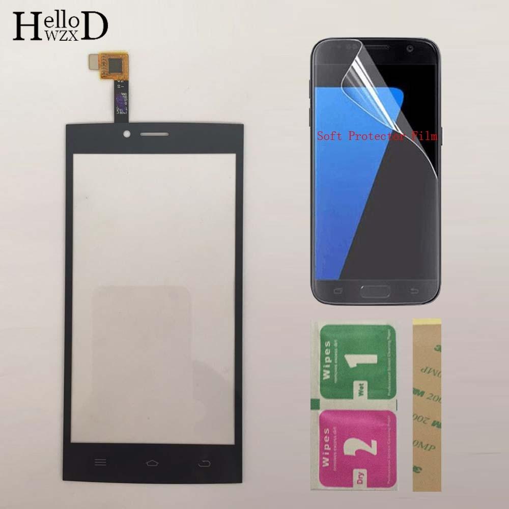 5.0 Painel de Toque de Tela Sensível Ao Toque Para Dexp Ixion ES2 Toque Digitador Frente De Vidro Len Repair Sensor Touchpad + Protetor de Tela filme