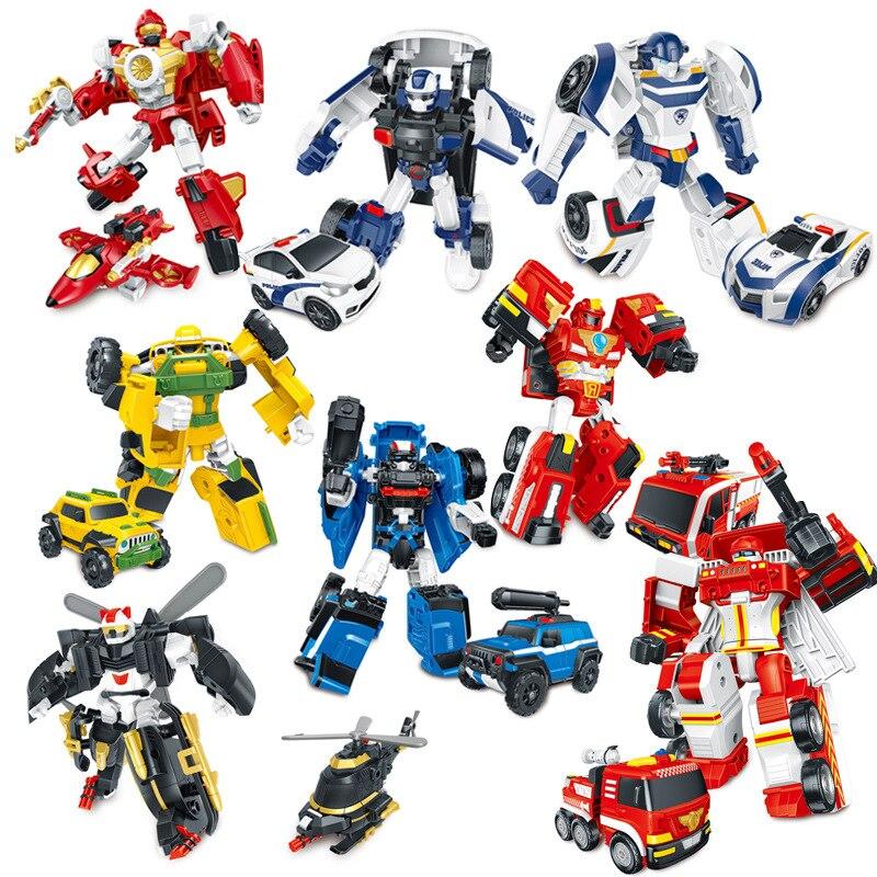 Robot metamórfico para niños de Tobot Brothers, combinación de Mini traje, vehículo deformado, Serie de transformación, coche de juguete, Helicóptero, Avión TB01