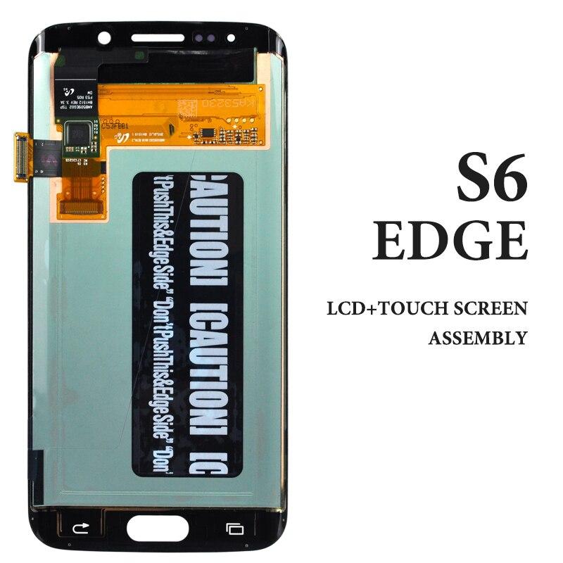 Super OEM Pantalla táctil azul blanco Oro Verde para Samsung S6 Edge LCD Display G925 G925A G925F Pantalla digitalizador