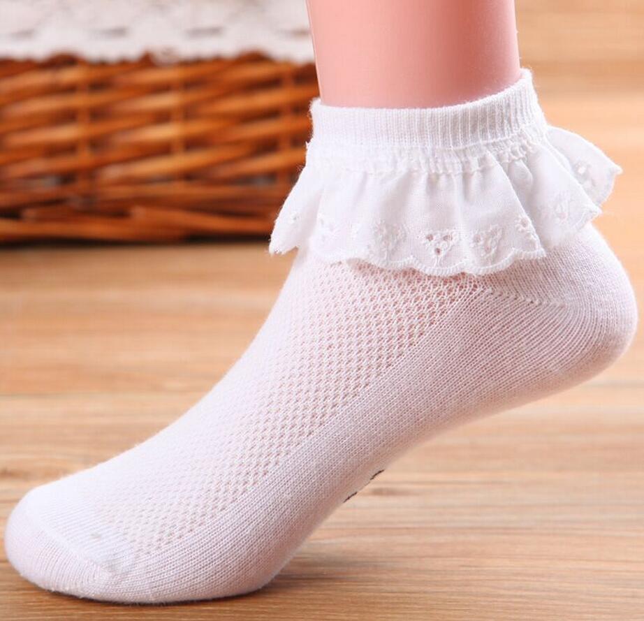 1 par primavera otoño verano bebé calcetines niñas niños princesa niños baile encaje Floral algodón malla regalo infantil