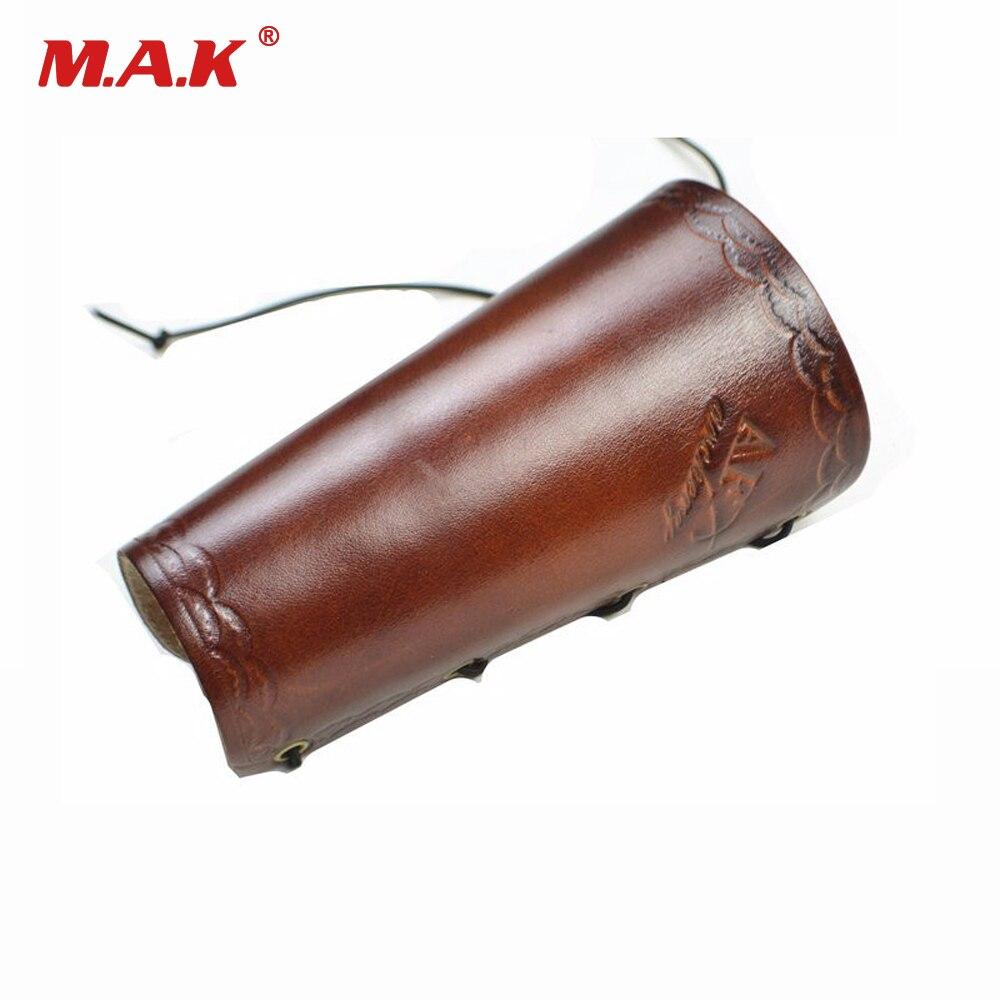 Traditionnel cuir de vache bras retenue protecteur garde tirer arc protéger bras accessoire pour tir chasse tir à larc