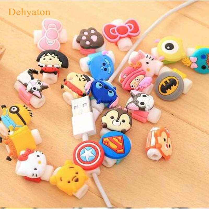 Dehyaton 2018 Cartoon Cable Protector Data Line Cord Protector Protective Case Cable Winder Cover For iPhone USB Charging Cable cartoon cable protector data line cord protector protective case cable winder cover for iphone charging cable protecto