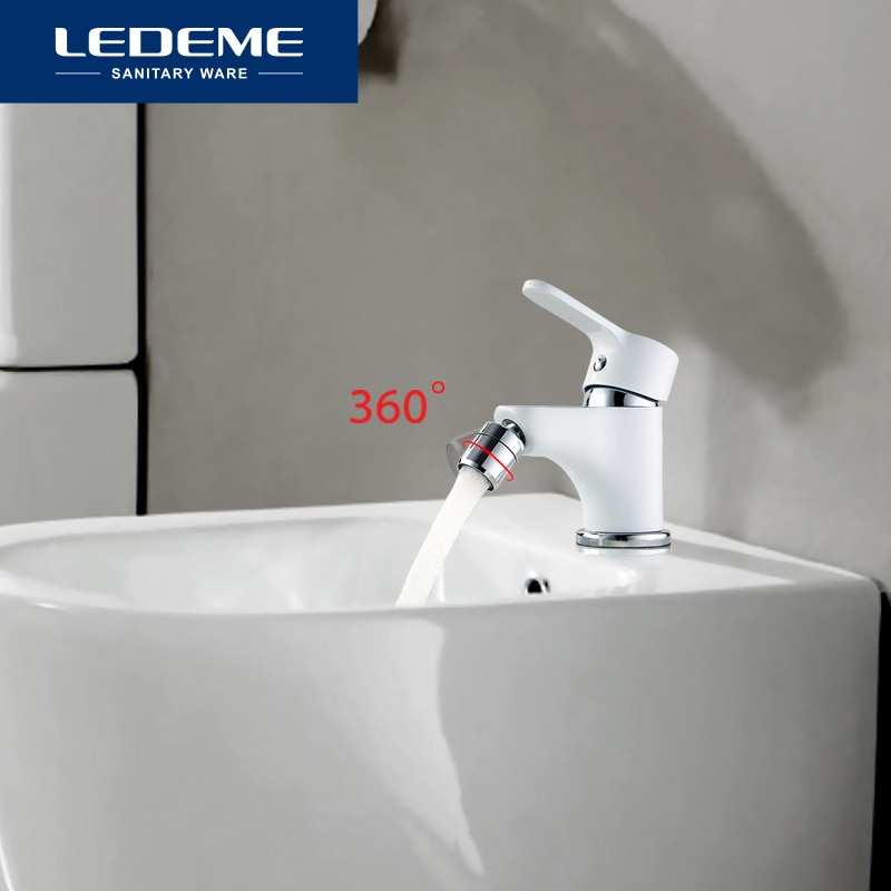 LEDEME-صنبور حمام نحاسي قابل للتعديل ، صنبور حمام نحاسي مع فتحة واحدة ، L5003W