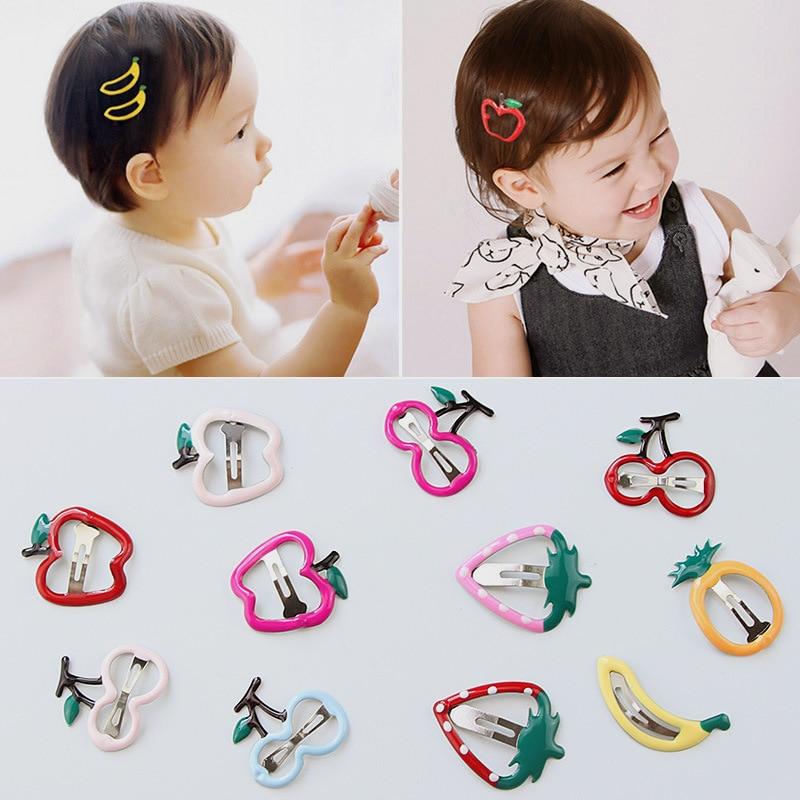 ¡Nuevo! 1 Uds Mini pinzas de pelo para niños, horquillas de fruta bonitas, horquillas de metal acrílico, accesorios para el cabello para niñas, Clips BB