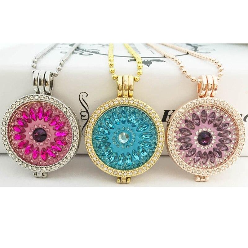 Oferta de collar de cristal de soporte de monedas intercambiables 33mm disco de monedas para colgante de marco al por mayor amor